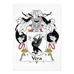 Escudo de la familia de Vera Invitaciones Personalizada