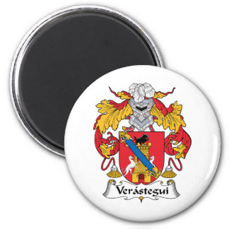 Escudo de la familia de Verastegui Imán Redondo 5 Cm