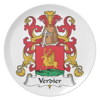 Escudo de la familia de Verdier Platos