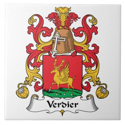 Escudo de la familia de Verdier Tejas Ceramicas