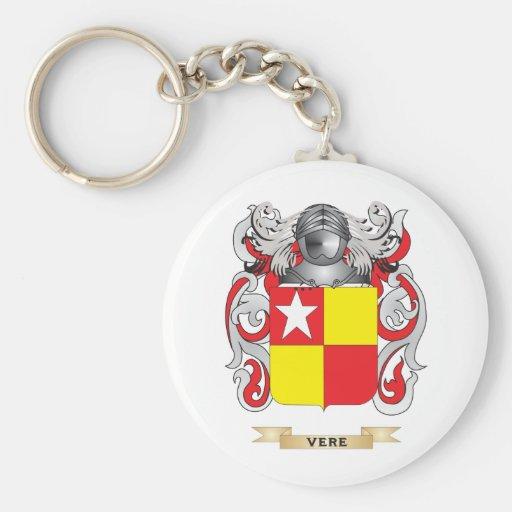 Escudo de la familia de Vere (escudo de armas) Llavero Redondo Tipo Pin