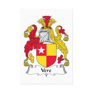 Escudo de la familia de Vere Lienzo Envuelto Para Galerias