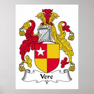 Escudo de la familia de Vere Posters