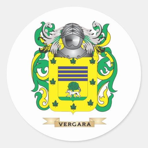 Escudo de la familia de Vergara (escudo de armas) Pegatina Redonda