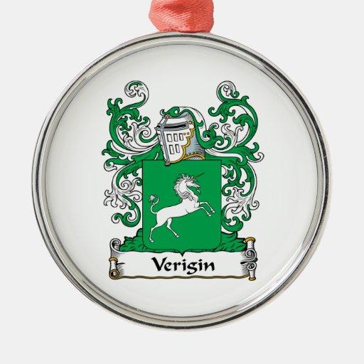 Escudo de la familia de Verigin Adornos De Navidad