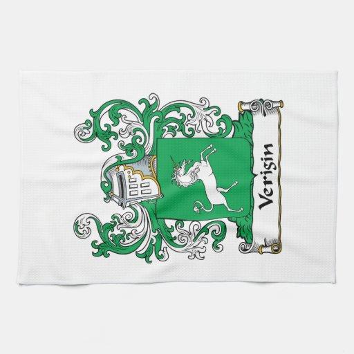 Escudo de la familia de Verigin Toalla De Mano