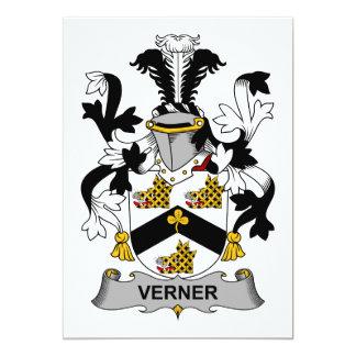 Escudo de la familia de Verner Invitación 12,7 X 17,8 Cm