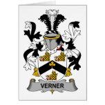 Escudo de la familia de Verner Tarjeta