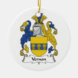 Escudo de la familia de Vernon Adorno Redondo De Cerámica