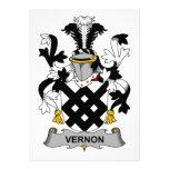 Escudo de la familia de Vernon Comunicados Personales