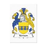 Escudo de la familia de Vernon Lona Envuelta Para Galerias