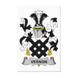 Escudo de la familia de Vernon Impresión En Lienzo Estirada