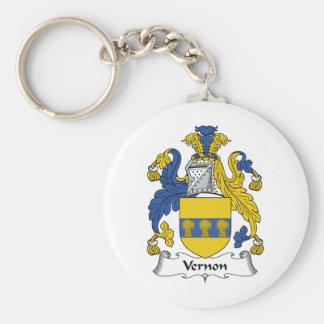 Escudo de la familia de Vernon Llavero Redondo Tipo Pin