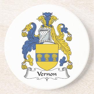 Escudo de la familia de Vernon Posavaso Para Bebida