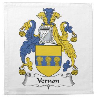 Escudo de la familia de Vernon Servilletas Imprimidas