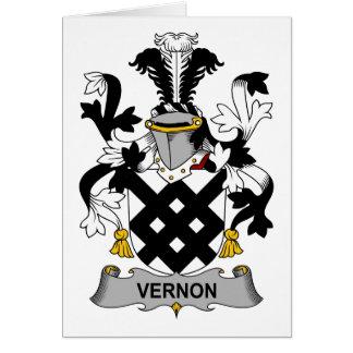 Escudo de la familia de Vernon Tarjeta De Felicitación