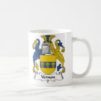 Escudo de la familia de Vernon Taza Básica Blanca