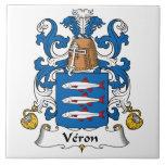 Escudo de la familia de Veron Azulejos