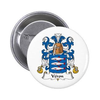Escudo de la familia de Veron Pin Redondo 5 Cm