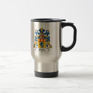 Escudo de la familia de Verrier Taza De Café