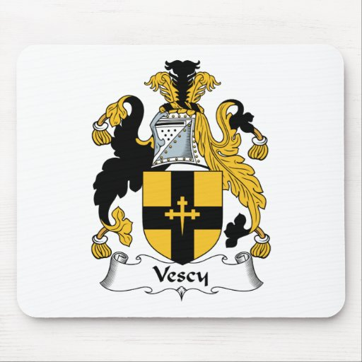 Escudo de la familia de Vescy Alfombrilla De Raton