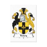 Escudo de la familia de Vescy Lienzo Envuelto Para Galerías