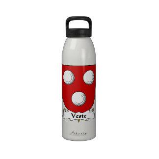 Escudo de la familia de Veste Botella De Agua
