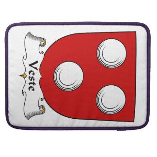 Escudo de la familia de Veste Fundas Macbook Pro