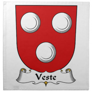 Escudo de la familia de Veste Servilleta Imprimida