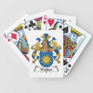 Escudo de la familia de Vetter Cartas De Juego