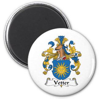 Escudo de la familia de Vetter Imán Redondo 5 Cm
