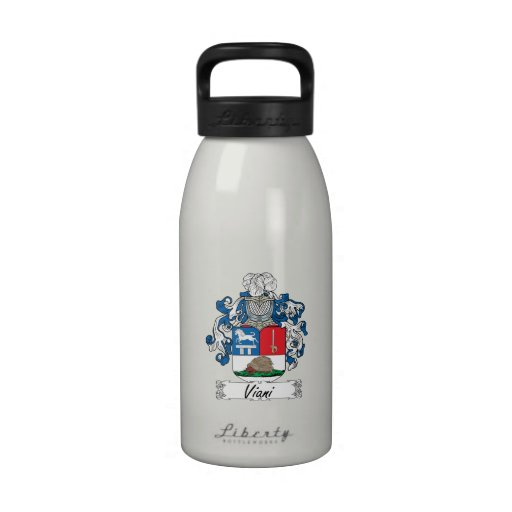 Escudo de la familia de Viani Botella De Agua Reutilizable