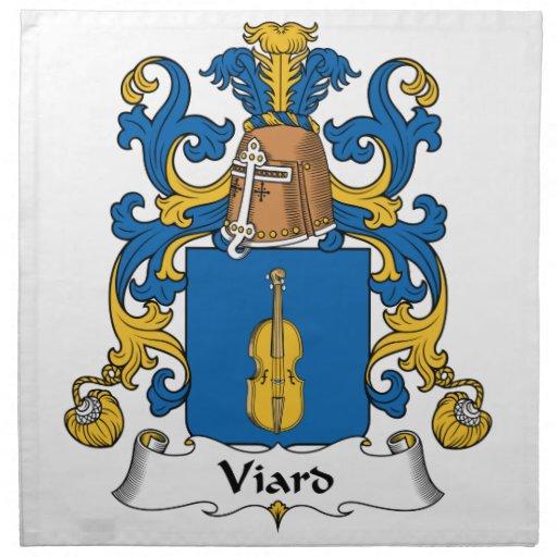 Escudo de la familia de Viard Servilletas Imprimidas
