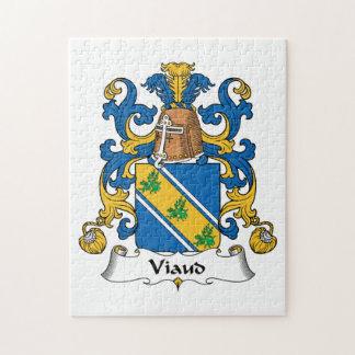 Escudo de la familia de Viaud Puzzle Con Fotos