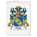 Escudo de la familia de Viaud Tarjeta