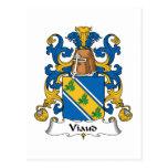 Escudo de la familia de Viaud Tarjeta Postal