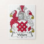 Escudo de la familia de Vickers Puzzle Con Fotos