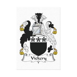 Escudo de la familia de Vickery Impresión En Lienzo Estirada