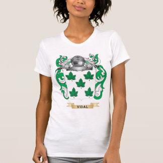 Escudo de la familia de Vidal (escudo de armas) Camisetas
