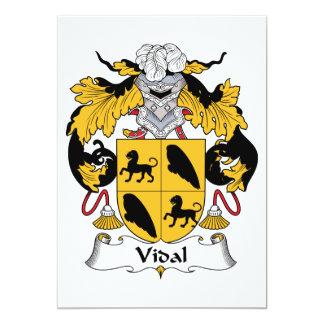 Escudo de la familia de Vidal Invitación 12,7 X 17,8 Cm