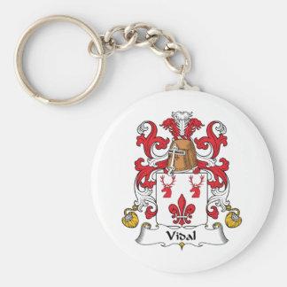 Escudo de la familia de Vidal Llaveros Personalizados