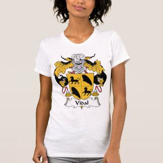 Escudo de la familia de Vidal Camiseta