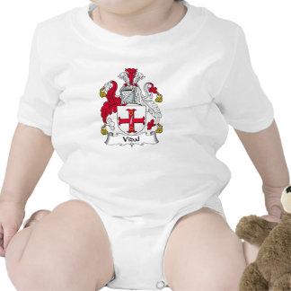 Escudo de la familia de Vidal Traje De Bebé
