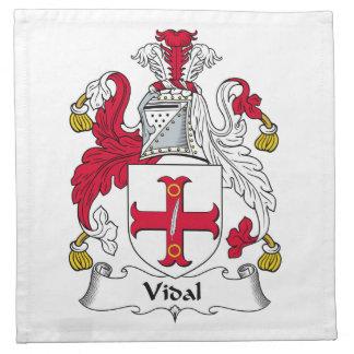 Escudo de la familia de Vidal Servilletas De Papel