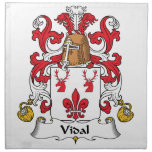 Escudo de la familia de Vidal Servilleta De Papel