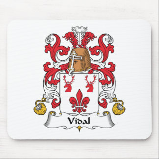 Escudo de la familia de Vidal Alfombrillas De Ratones