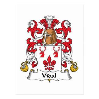 Escudo de la familia de Vidal Tarjeta Postal