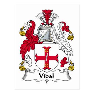 Escudo de la familia de Vidal Tarjetas Postales