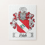 Escudo de la familia de Vidale Puzzle Con Fotos