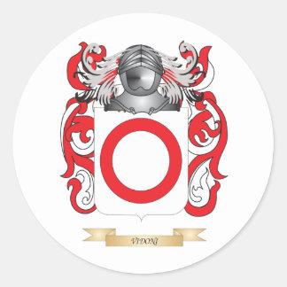 Escudo de la familia de Vidoni (escudo de armas) Pegatina Redonda